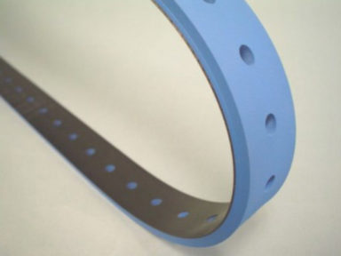 Conveyor Belt Blue Rubber Cover with Holes