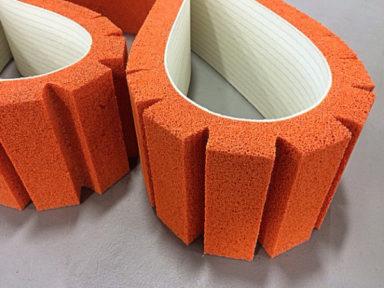 Conveyor Belt Orange Sponge Serrated