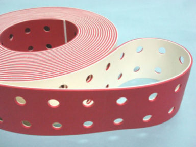 Conveyor Belt Red Linatex with Holes 1