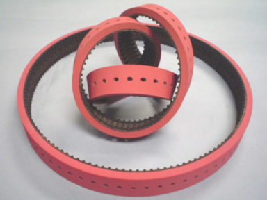 Conveyor Belt Red Linatex with Holes