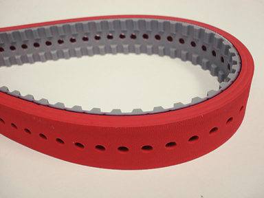 Form Fill Seal Timing Belt Soft Rubber and Holes