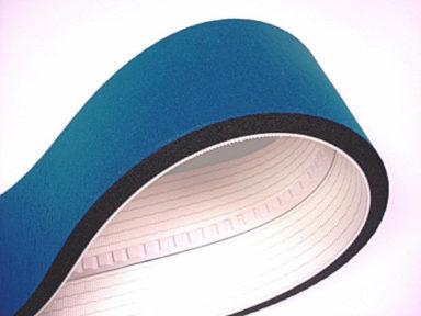 Conveyor Belt Sponge Blue Fabric Cover V-guide