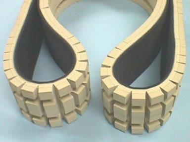 Conveyor Belt Tan Gum Rubber Cover Machined