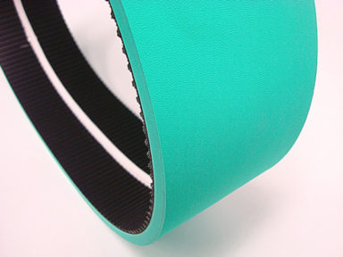 Neoprene Timing Belt with 55 Duro Green Natural Rubber Cover & V-guide