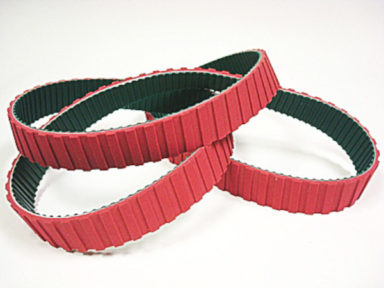 Neoprene Timing Belt with Red Linatex Cover Segmented