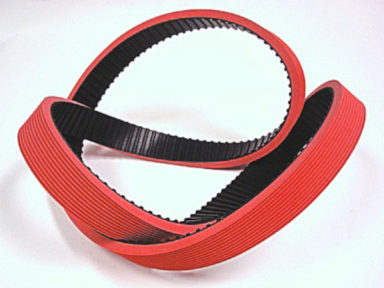 Neoprene Timing Belt with Red Rubber 40D. with Groove Cover 1
