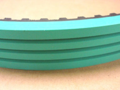 Timing Belt Green Rubber Serrated Cover