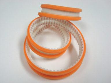 Timing Belt Orange Urethane Cover Ribs