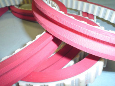 Timing Belt Red Linatex Cover with Groove