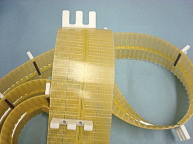 Urethane Kevlar Cord Timing Belt with Bolt On Profiles False Teeth