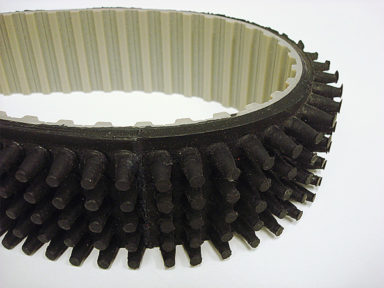 Urethane Timing Belt with Black Scrubber Cover