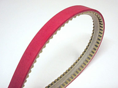 Urethane Timing Belt with V-guide and Red Linatex Cover