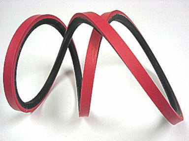 V-belt with Red Linatex Cover